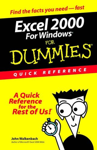 Excel 2000 for Windows for Dummies Quick Reference 9780764504471