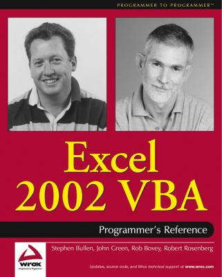 Excel 2002 VBA Programmers Reference 9780764543715