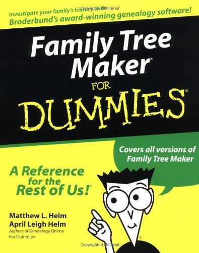 Family Tree Maker for Dummies 9780764506611