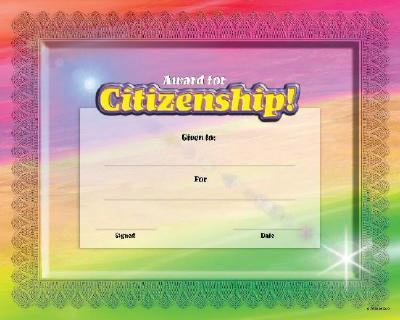 Fit-In-A-Frame Award for Citizenship 9780768226881