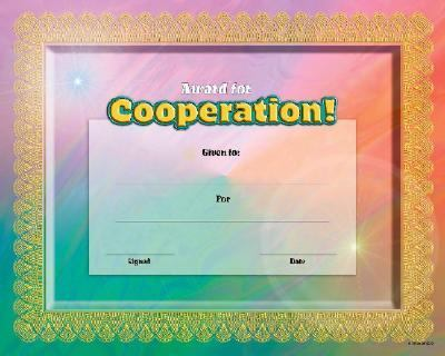 Fit-In-A-Frame Award for Cooperation 9780768226898