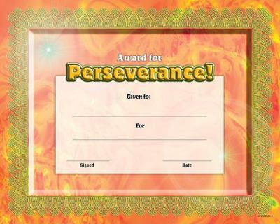 Fit-In-A-Frame Award for Perseverance 9780768226928
