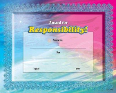 Fit-In-A-Frame Award for Responsibility 9780768226942