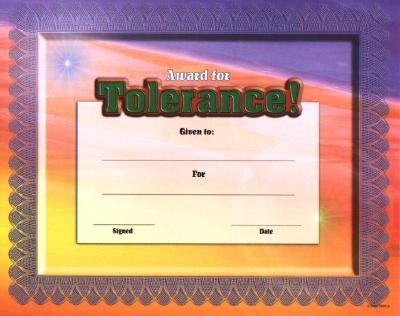 Fit-In-A-Frame Award for Tolerance 9780768226959