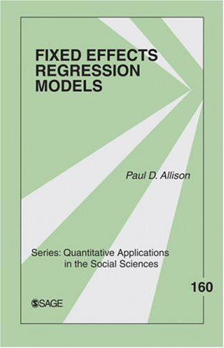 Fixed Effects Regression Models 9780761924975
