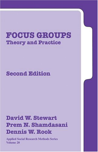 Focus Groups: Theory and Practice 9780761925828