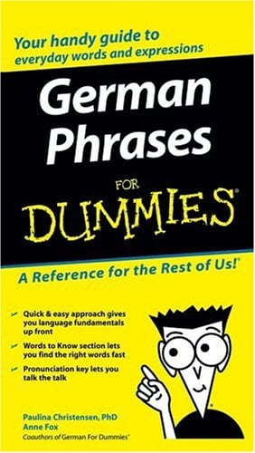 German Phrases for Dummies 9780764595530