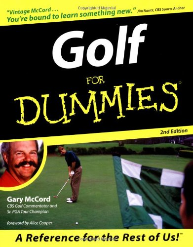 Golf for Dummies 9780764551468