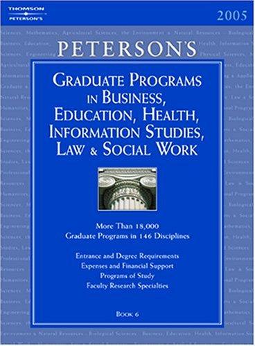 Grad Bk6: Bus/Ed/Hlth/Info/Law/Swrk 2005 9780768913934