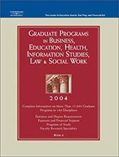Graduate Programs in Business, Education, Health, Information Studies, Law & Social Work