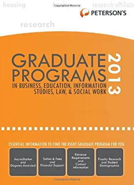 Graduate Programs in Business, Education, Information Studies, Law & Social Work 2013