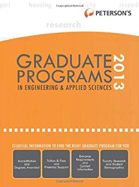 Graduate Programs in Engineering & Applied Sciences 2013 9780768936247