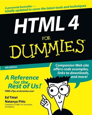 HTML 4 for Dummies 9780764519956