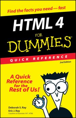HTML 4 for Dummies Quick Reference 9780764507212