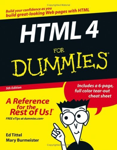 HTML 4 for Dummies 9780764589171