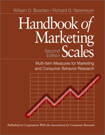 Handbook of Marketing Scales: Multi-Item Measures for Marketing and Consumer Behavior Research 9780761910008