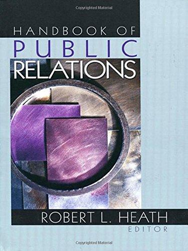 Handbook of Public Relations 9780761912866