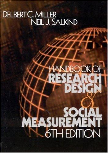 Handbook of Research Design and Social Measurement 9780761920465
