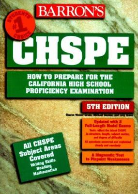 How to Prepare for the Chspe, California High School Proficiency Exam 9780764101281
