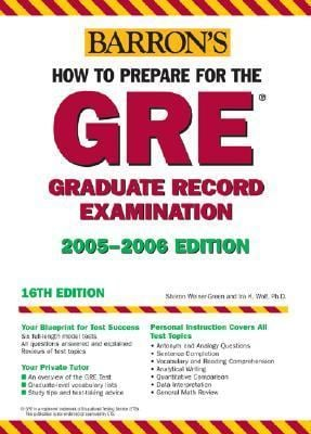 How to Prepare for the GRE: 2006-2007 9780764132704