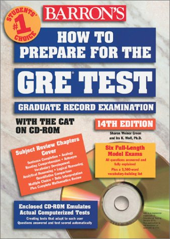 How to Prepare for the GRE: Graduate Record Examination [With CDROM] 9780764174711