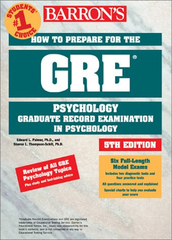 How to Prepare for the GRE in Psychology 9780764117046