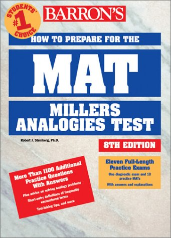 How to Prepare for the MAT: Miller Analogies Test 9780764116681