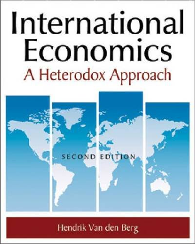 International Economics: Aheterdox Approach 9780765625441