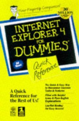 Internet Explorer 4 for Windows for Dummies Quick Reference 9780764501883