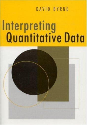 Interpreting Quantitative Data 9780761962625