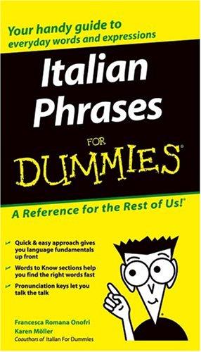 Italian Phrases for Dummies 9780764572036