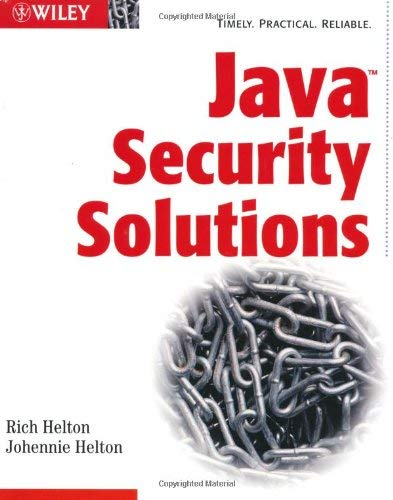 Java Security Solutions 9780764549281
