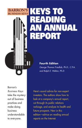 Keys to Reading an Annual Report 9780764139154