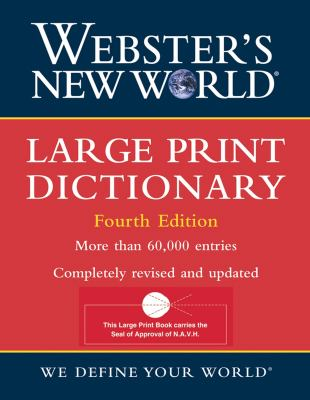 Large Print Dictionary 9780764559365
