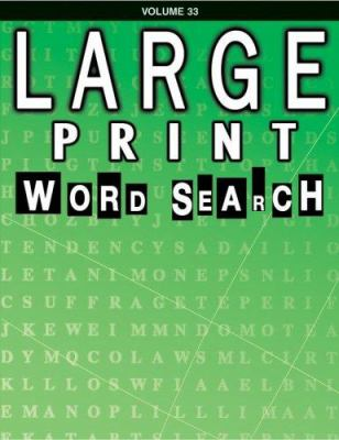 Large Print Word Search: Volume 33 9780769631974