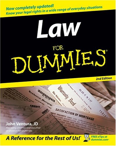Law for Dummies 9780764558306