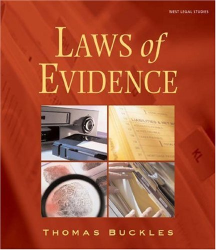 Laws of Evidence 9780766807617