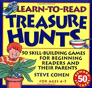 Learn-To-Read Treasure Hunts: Fifty Skill-Building Games for Beginning Readers and Their Parents [With 50 Two-Color, Die-Cut Stickers]