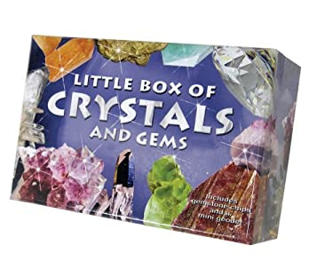 Little Box of Crystals and Gems [With Gemstone Chips, Mini Geode, Tweezers and Paperback Book] 9780764195907