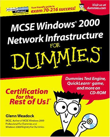MCSE Windows 2000 Network Infrastructure for Dummies [With CDROM] 9780764507113