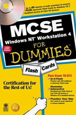 MCSE Windows NT Workstation 4 for Dummies Flash Cards [With *] 9780764505539