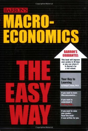 Macroeconomics the Easy Way 9780764132377