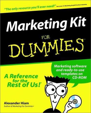Marketing Kit for Dummies. [With CDROM] 9780764552380
