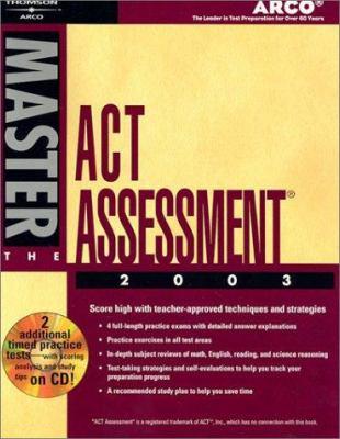 Master the ACT, 2003/E E/CD-ROM [With CDROM] 9780768908824