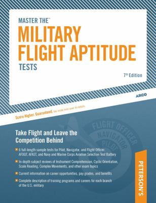 Master the Military Flight Aptitude Tests 9780768927931
