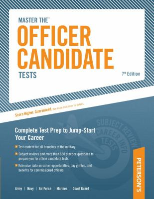 Master the Officer Candidate Tests 9780768927948