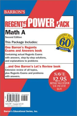 Math a Regents Power Pack 9780764176272