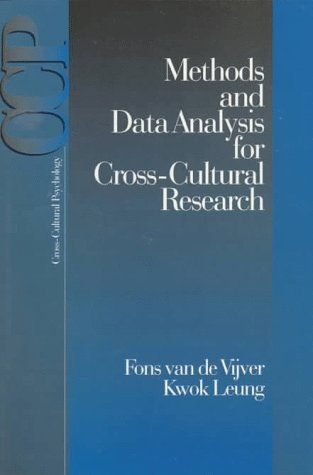 Methods and Data Analysis for Cross-Cultural Research 9780761901075