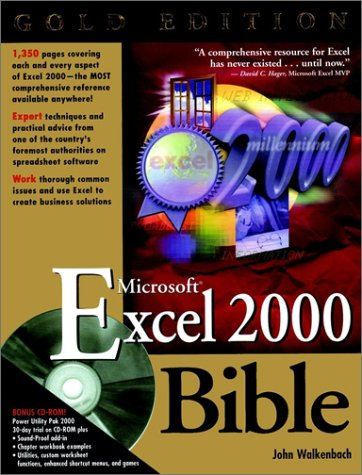 Microsoft Excel 2000 Bible [With CDROM] 9780764534492