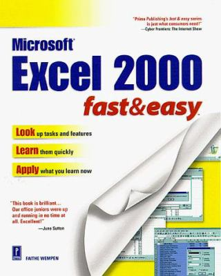 Microsoft Excel 2000 Fast & Easy 9780761517610